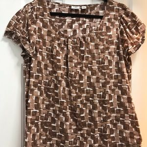 Cato plus size 18 to 20 brown and white blouse